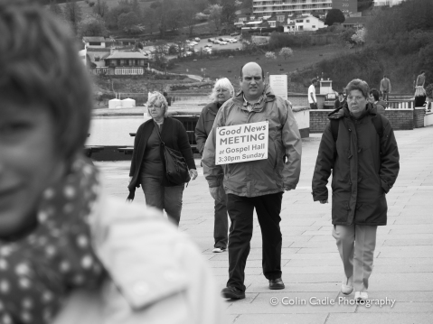 'Spreading the Word' - Teignmouth, Devon - UK