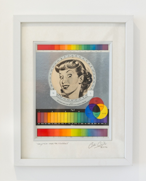 'Sally Flies Over The Rainbow' - Mixed media collage